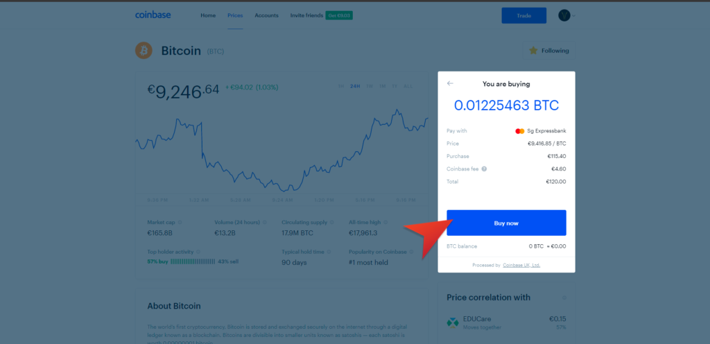 coinbase registration fee