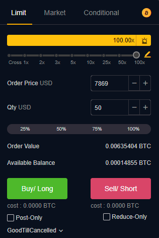 open a new trading order