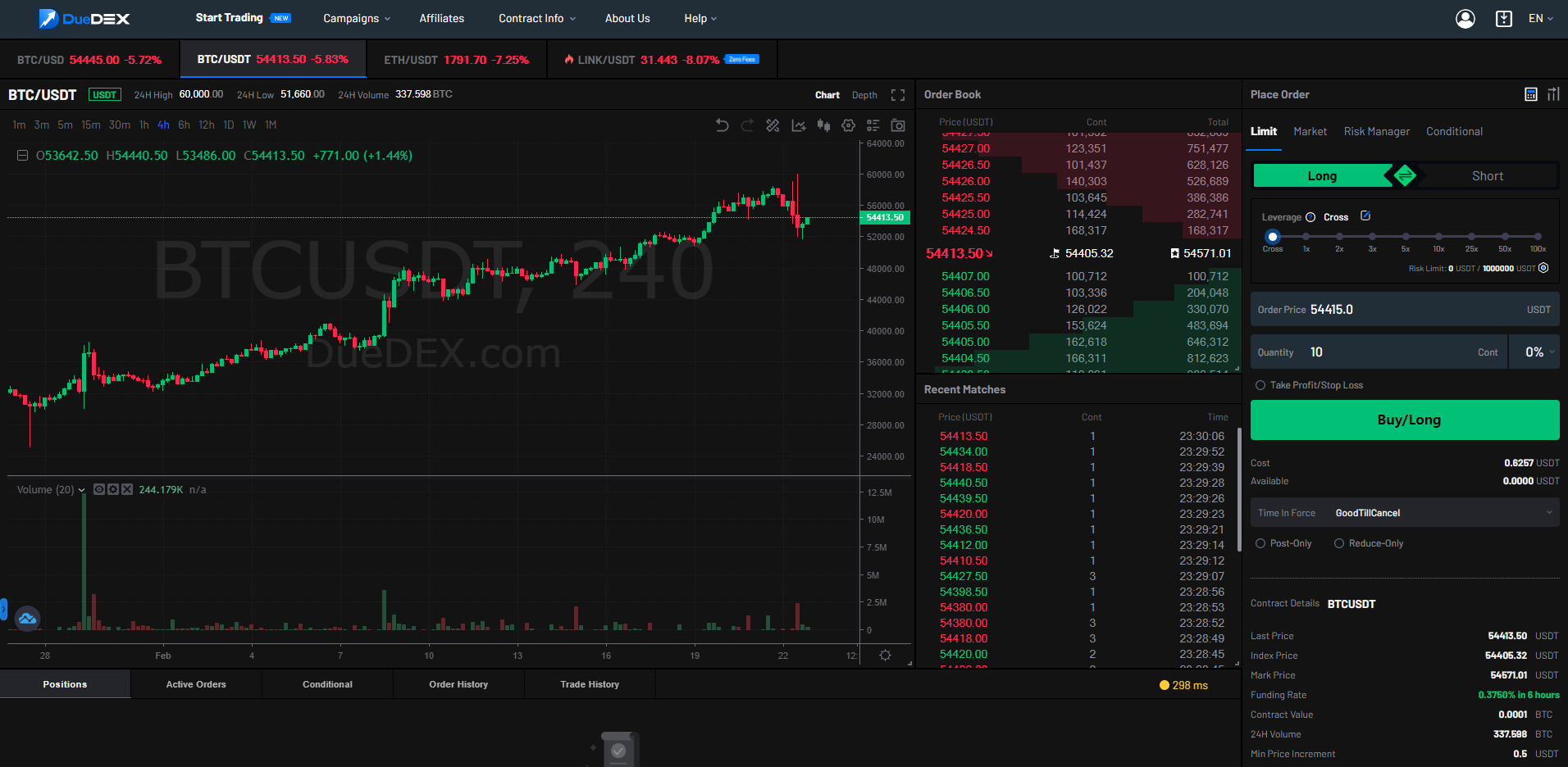 the user experience on duedex is suitable for new people to the crypto industry