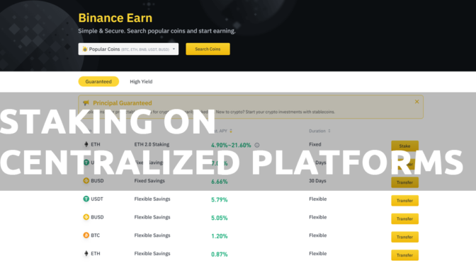 Staking on centralized platforms like Binance and Coinbase is easier than ever.