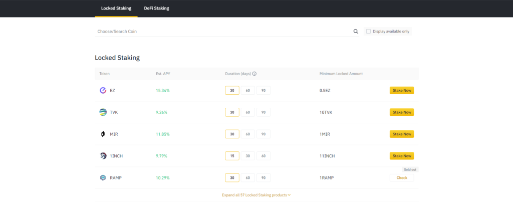 Staking is made easy on binance
