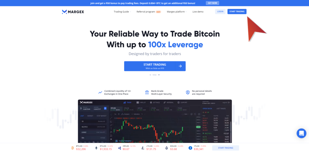 How to register on Margex